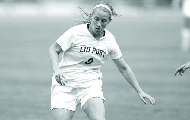 Senior Jeanine Ambrogi scored a goal in Thursday's win. By LIU Post Athletics