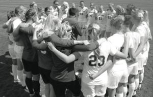 Women's soccer faces Bridgeport in the ECC playoffs. By LIU Post Athletics