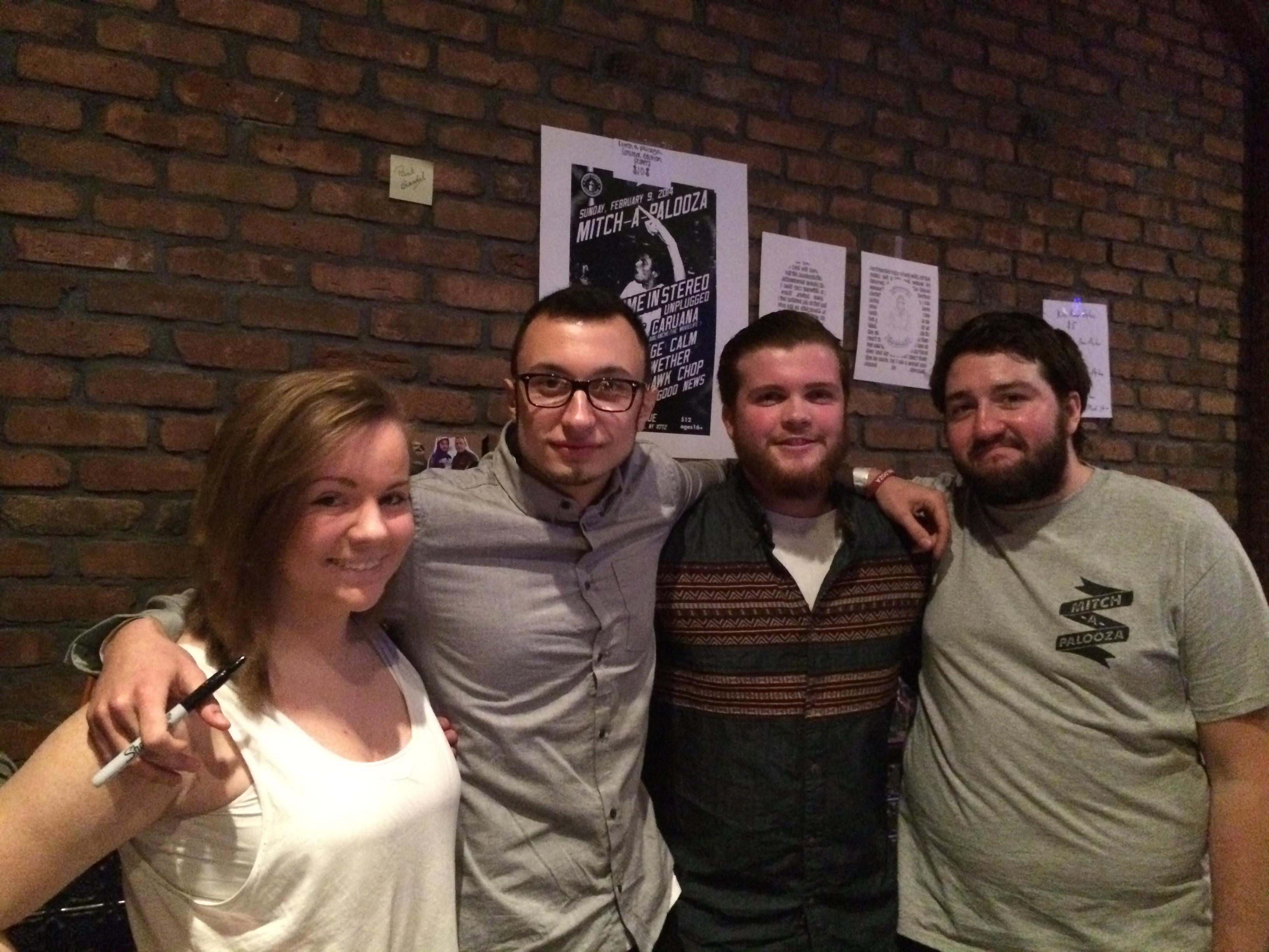 (Left to Right:) Lauren Pardo, Nick Amalfitano, Paul Brandel, and Dylan McGovern.  (Photo Credit: Christa Speranza)