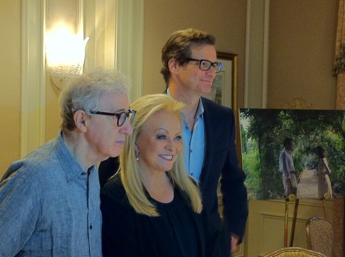 Photo of Woody Allen, Jacki Weaver and Colin Firth by Pete Barell