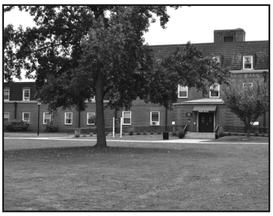 Both Post Hall (picture) & Riggs Hall (picture further down) remained open for housing this semester.