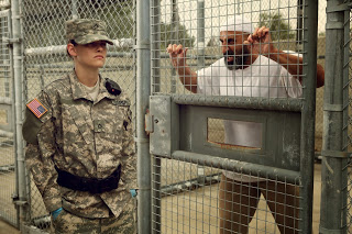 "Stewart (left) and Maadi star in the gripping new film ""Camp X-Ray."" Photo courtesy of Teaser-Trailer.com"
