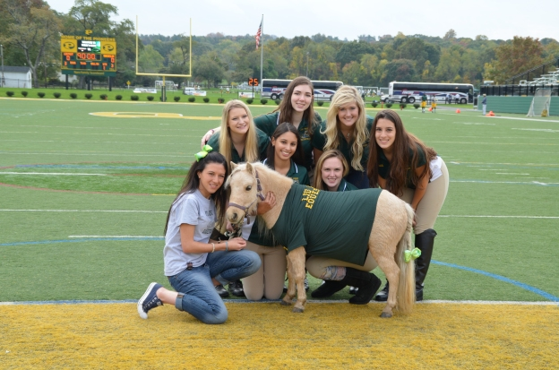 The Equestrian team poses with their mini, Hope