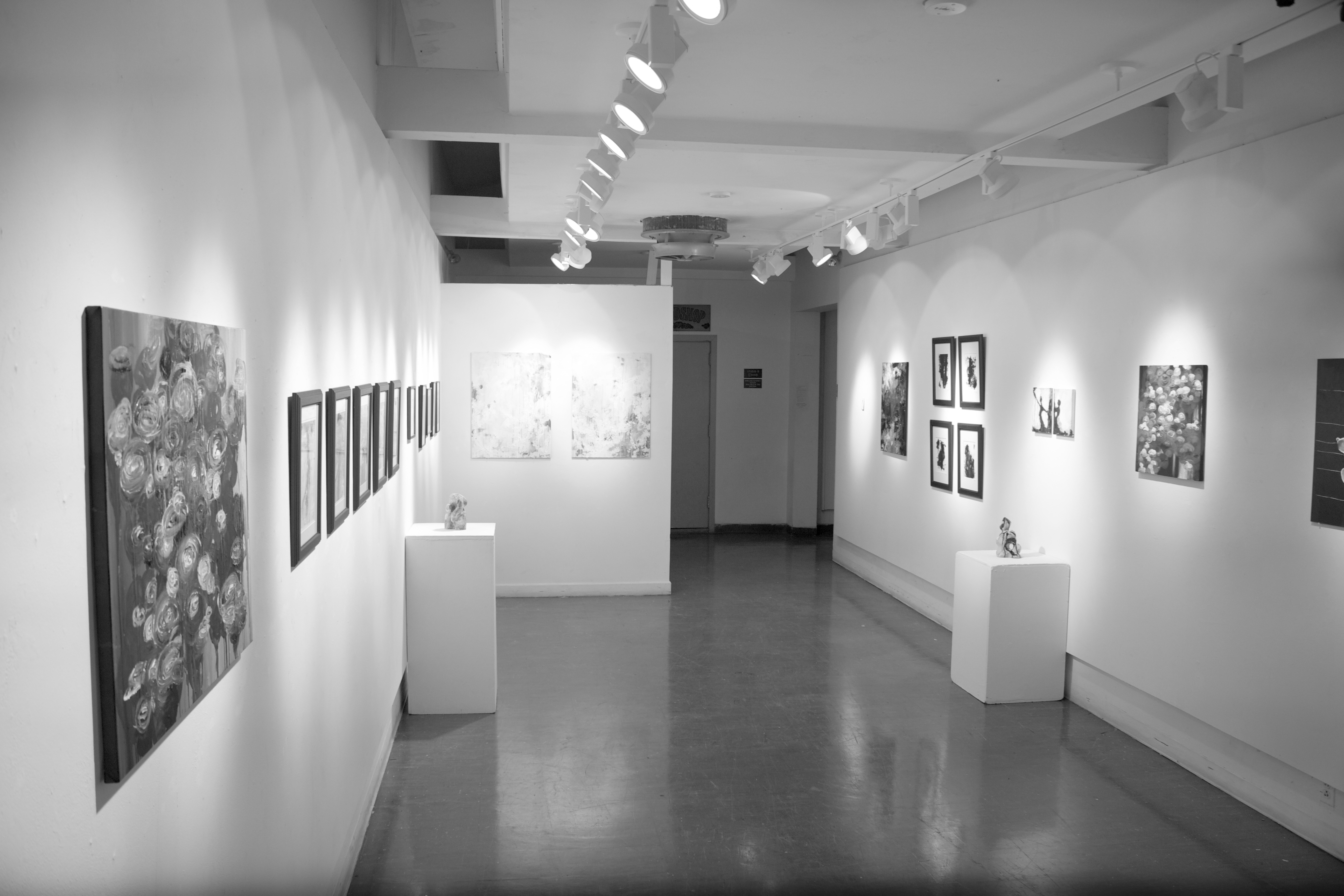 The exhibit showcasing Li and Hoff's artwork