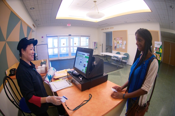 Resident students gain access to the Winnick Student Center with their ID cards