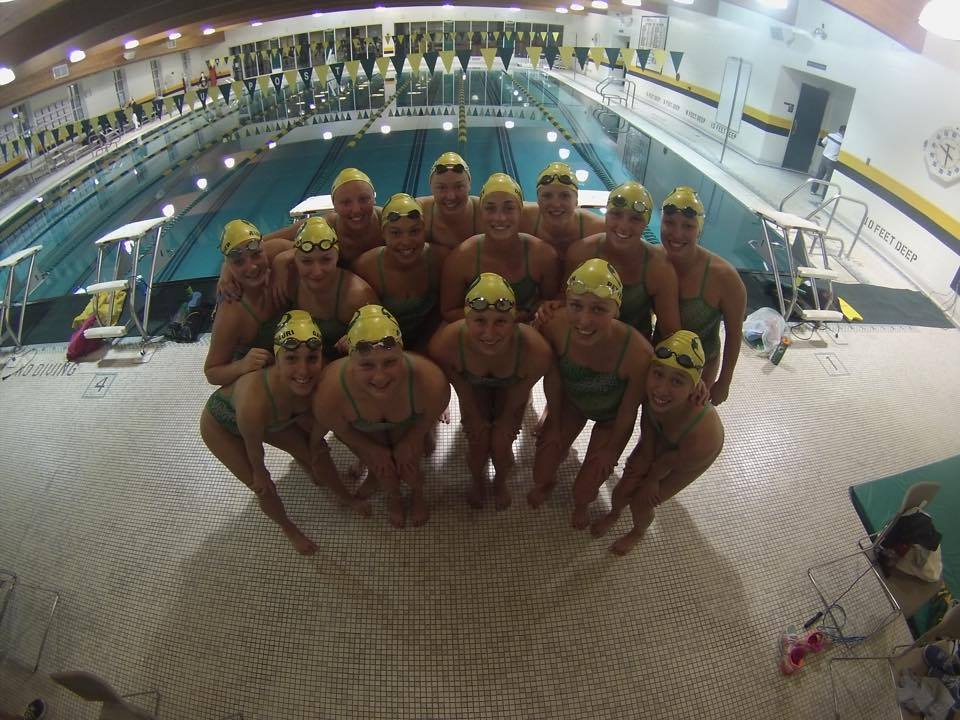 The LIU Post swimming team