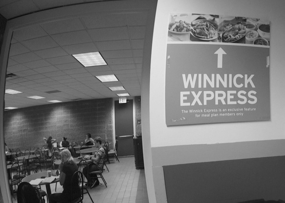 Winnick Express, located in Hillwood Commons, still offers styrofoam to-go trays as an option for resident students