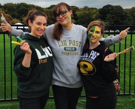 Members of the Art and Art History Club hold a face-painting booth at Homecoming.  Photo credit: The Art and Art History Club of LIU Post