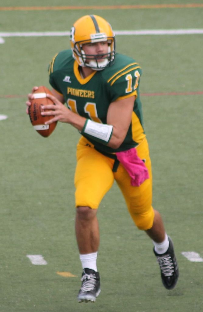 Laurino's career honors include: Harlon Hill Trophy Award finalist, ECAC All-Star, NE-10 Most Valuable Player, and five-time NE-10 Player of the Week. Photo credit: Kimberly Toledo