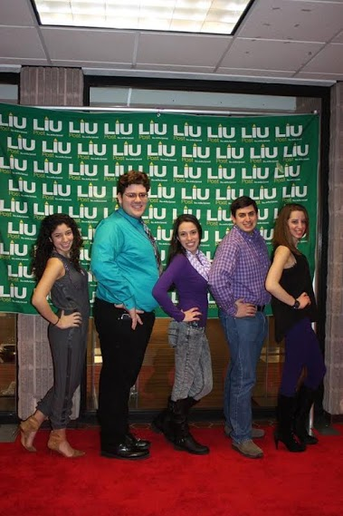 The Commuter Student Association e-board (from left): Camila Merchan, Brian Kenny, Nicole Cunningham, Erik Arnesen, and Samantha Sterling. Photo: LIU Post CSA