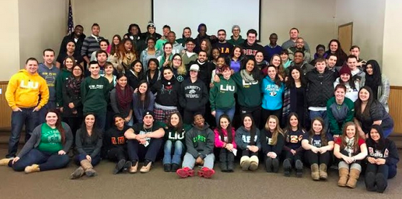 Student leaders join together for the leadership retreat. Photo by LIU Post Campus Life