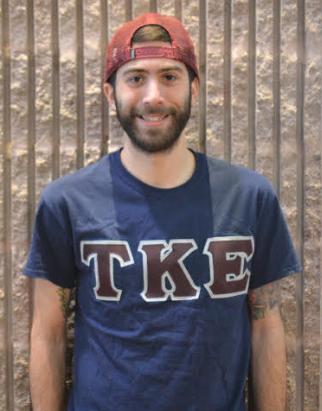 Eric Simonson (pictured above) president of TKE, and senior Marketing major. Photo by Kimberly Toledo