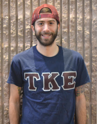 Eric Simonson (pictured above) president of TKE, and senior Marketing major. Photo by Kimberly Toledo