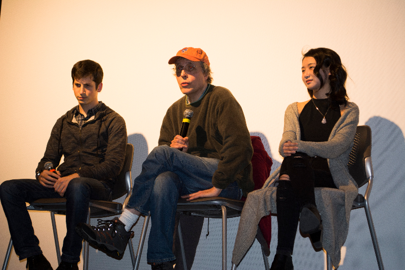 """(From left to right): Actor Steven Kaplan, director Mark Lawrence, and actress Annie Q hold a Q & A panel for an exclusive screening of their movie """"The Rewrite."""" Photo by Kadijah Swann"""