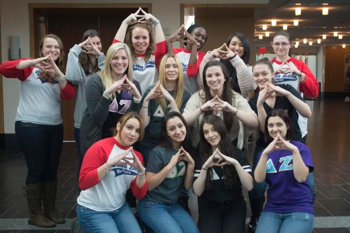 Founding sisters of the Delta Zeta sorority chapter on campus. Photo: Khadijah Swann