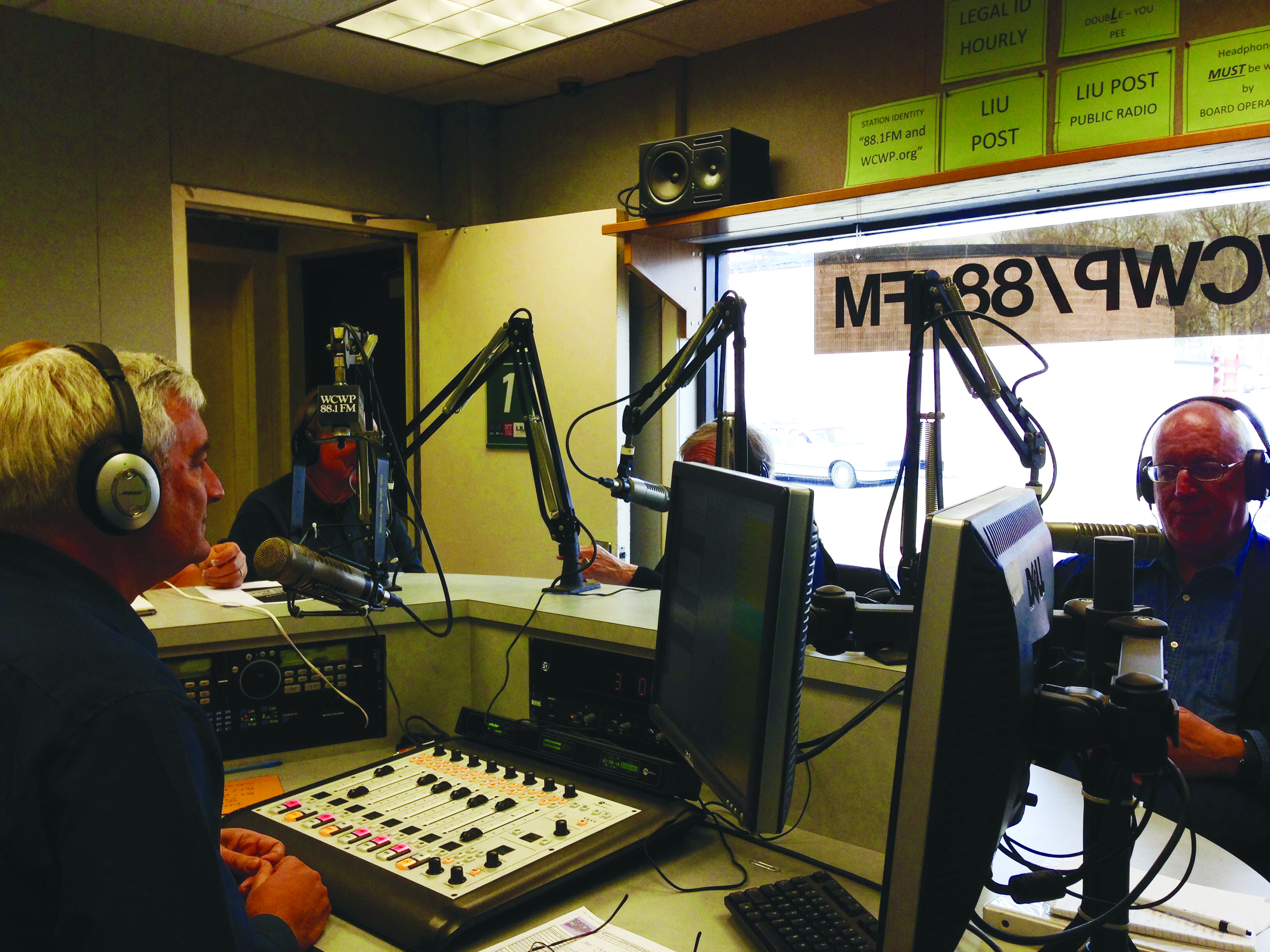Former members of the campus radio put on a special broadcast for the 50th Anniversary of the FM station. Photo: Alyssa Seidman