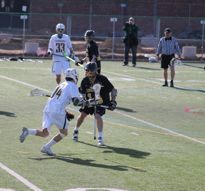 #14, junior attacker Ryan Slane. Photo: Kimberly Toledo