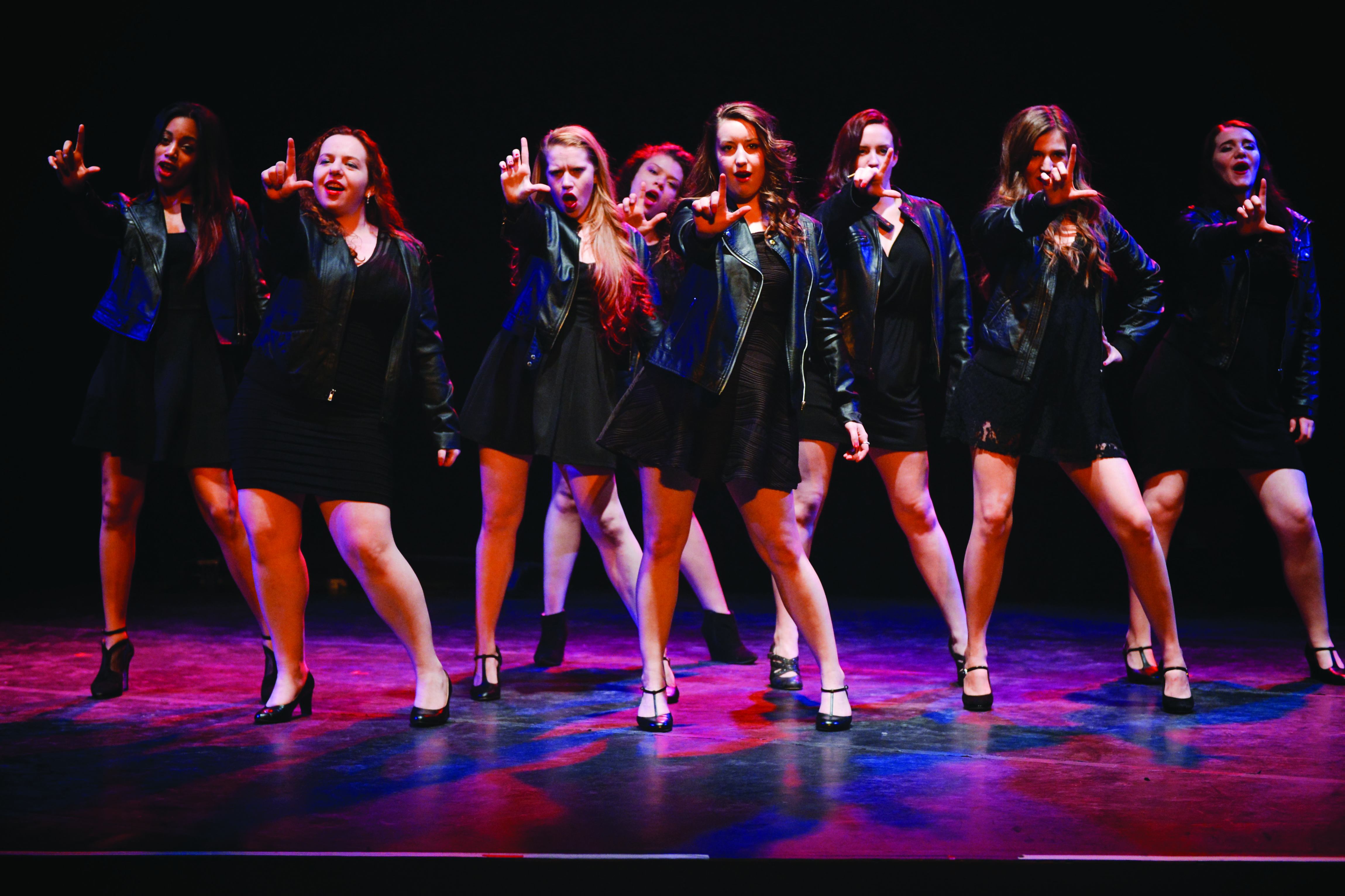 """The eight performers who hail from PTC perform in """"What Red Lipstick Sounds Like."""" Photo: Mia Isabella Aguirre"""