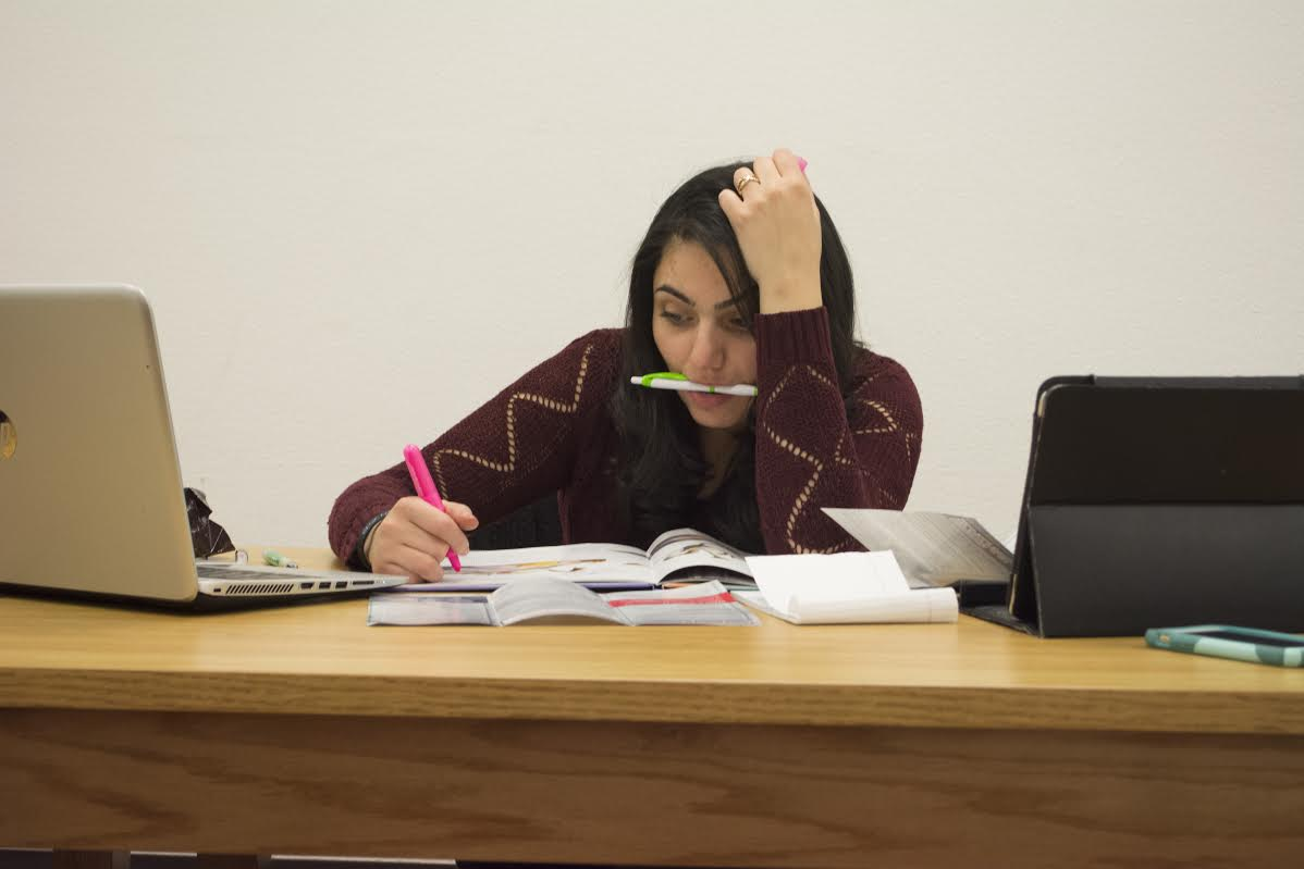 Students struggle under the pressure of midterm season. Photo: Khadijah Swann