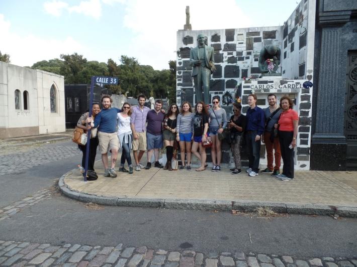 LIU at Carlos Gardel's Mausoleum