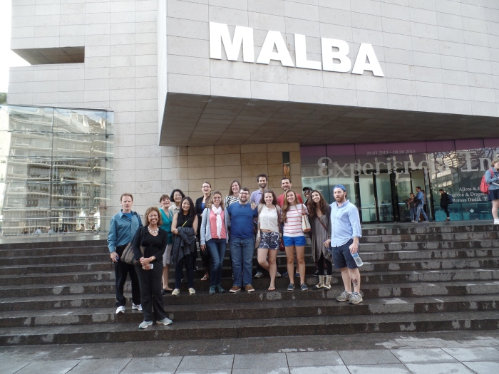 LIU students and faculty at the Malba Museum (Museo de Arte Latino Amricano de Buenos Aires)